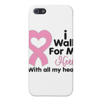 Breast Cancer I Walk For My Hero iPhone 5 Case