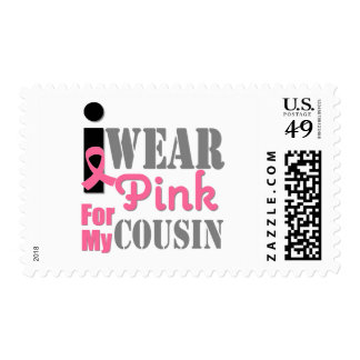 Breast Cancer I Wear Pink Cousin Postage