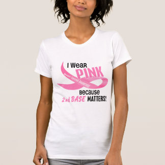 Breast Cancer I WEAR PINK FOR 2ND BASE 33.2 Tanks