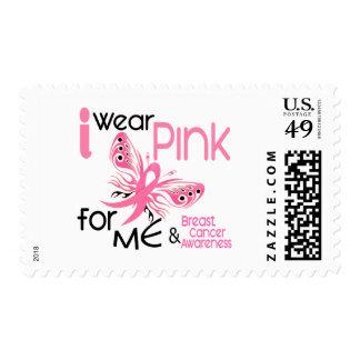 Breast Cancer I WEAR PINK FOR ME 45 Stamp