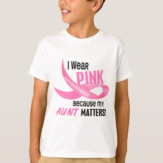 Breast Cancer I WEAR PINK FOR MY AUNT 33.2 T-Shirt