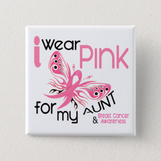 Breast Cancer I WEAR PINK FOR MY AUNT 45 Pinback Button