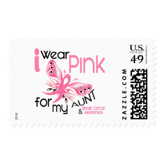 Breast Cancer I WEAR PINK FOR MY AUNT 45 Postage Stamps