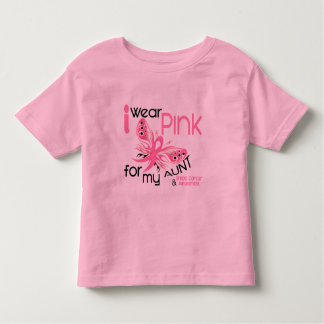 Breast Cancer I WEAR PINK FOR MY AUNT 45 Toddler T-shirt