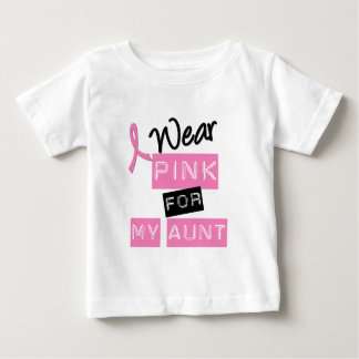 Breast Cancer I Wear Pink For My Aunt Tee Shirt