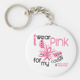 Breast Cancer I WEAR PINK FOR MY COUSIN 45 Keychain