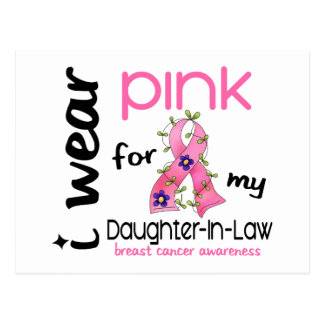 Breast Cancer I WEAR PINK FOR MY DAUGHTER-IN-LAW Postcard