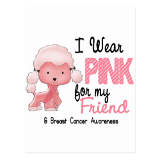 Breast Cancer I Wear Pink For My Friend 47 Postcard