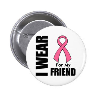 Breast Cancer I Wear Pink For My Friend Pin