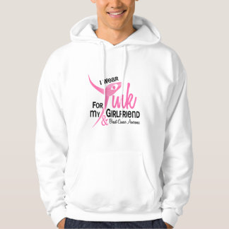 BREAST CANCER I Wear Pink For My Girlfriend 41 Hoodie