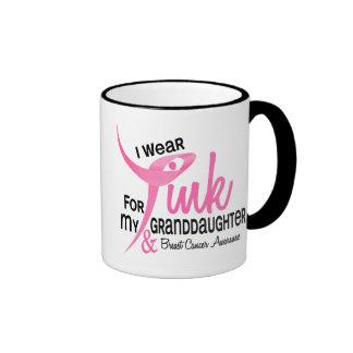 BREAST CANCER I Wear Pink For My Granddaughter 41 Ringer Mug