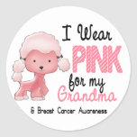 Breast Cancer I Wear Pink For My Grandma 47 Sticker