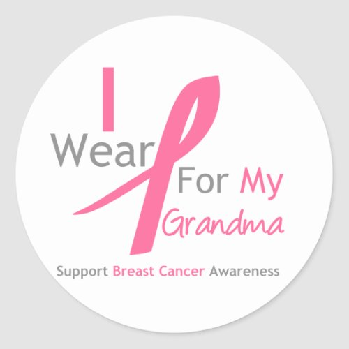 Breast Cancer I Wear Pink For My Grandma zazzle_sticker