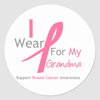 Breast Cancer I Wear Pink For My Grandma Stickers