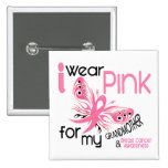 Breast Cancer I WEAR PINK FOR MY GRANDMOTHER 45 2 Inch Square Button