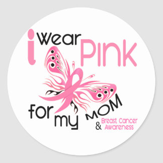 Breast Cancer I WEAR PINK FOR MY MOM 45 Classic Round Sticker