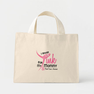 BREAST CANCER I Wear Pink For My Mommy 41 Mini Tote Bag