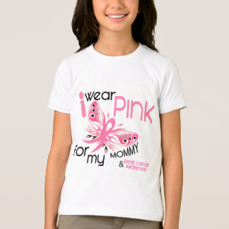 Breast Cancer I WEAR PINK FOR MY MOMMY 45 T-Shirt