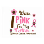 Breast Cancer I Wear Pink For My Mother 12 Postcards