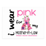 Breast Cancer I WEAR PINK FOR MY MOTHER-IN-LAW 43 Post Card