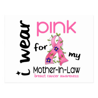 Breast Cancer I WEAR PINK FOR MY MOTHER-IN-LAW 43 Postcard