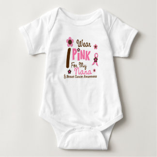 Breast Cancer I Wear Pink For My Nana 12 Baby Bodysuit