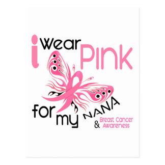 Breast Cancer I WEAR PINK FOR MY NANA 45 Postcard