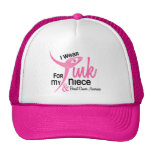 BREAST CANCER I Wear Pink For My Niece 41 Mesh Hats