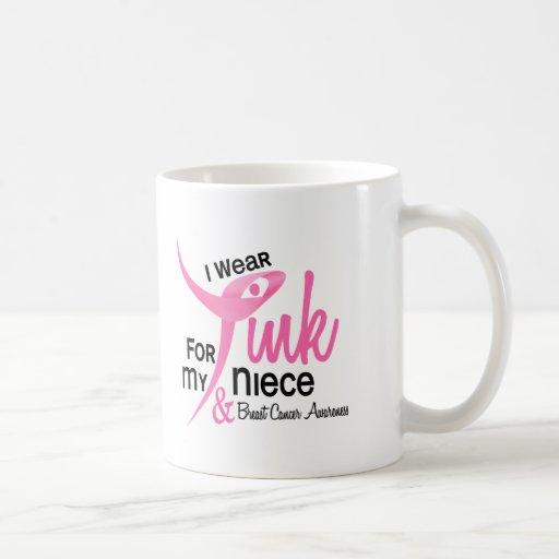 BREAST CANCER I Wear Pink For My Niece 41 Coffee Mug
