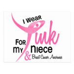 BREAST CANCER I Wear Pink For My Niece 41 Post Card