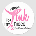 BREAST CANCER I Wear Pink For My Niece 41 Stickers