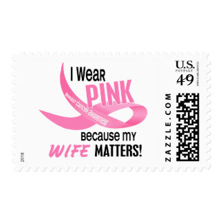 Breast Cancer I WEAR PINK FOR MY WIFE 33.2 Postage