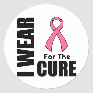 Breast Cancer I Wear Pink For The Cure Classic Round Sticker