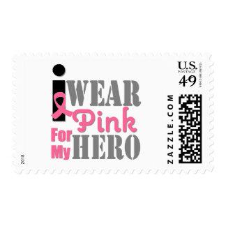 Breast Cancer I Wear Pink Hero Postage Stamps