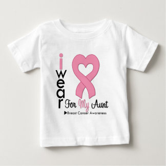 Breast Cancer I Wear Pink Ribbon For My Aunt T Shirt