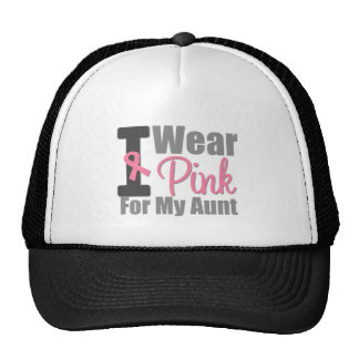 Breast Cancer I Wear Pink Ribbon For My Aunt Trucker Hat