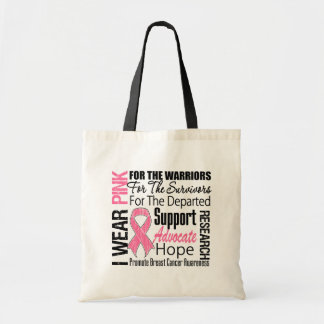 Breast Cancer I Wear Pink Ribbon TRIBUTE Bags