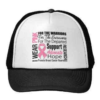 Breast Cancer I Wear Pink Ribbon TRIBUTE Trucker Hats