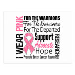 Breast Cancer I Wear Pink Ribbon TRIBUTE Postcard
