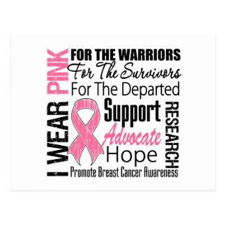 Breast Cancer I Wear Pink Ribbon TRIBUTE Postcards