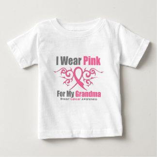 Breast Cancer I Wear Pink Tribal Ribbon (Grandma) Infant T-shirt
