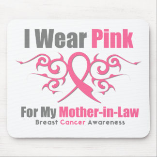 Breast Cancer I Wear Pink TribalRibbon MotherInLaw Mouse Pad
