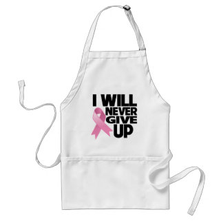Breast Cancer I Will Never Give Up Adult Apron