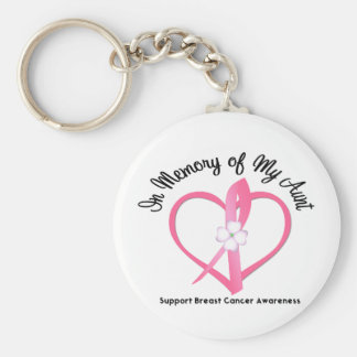 Breast Cancer In Memory of My Aunt Keychains
