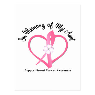 Breast Cancer In Memory of My Aunt Postcard