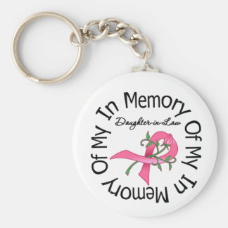 Breast Cancer In Memory of My Daughter-in-Law Basic Round Button Keychain