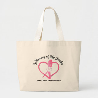 Breast Cancer In Memory of My Grandma Large Tote Bag