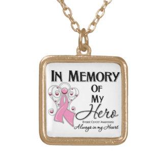 Breast Cancer In Memory of My Hero Custom Jewelry