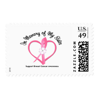 Breast Cancer In Memory of My Sister Stamps