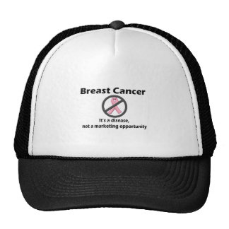 Breast Cancer is Disease-Not Marketing Opportunity Mesh Hats